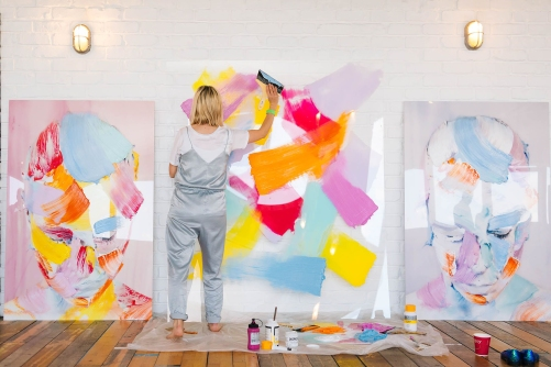 Painting at WGSN Futures summit 2
