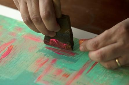 NADIA ATTURA close up work green pink NY TOOAF