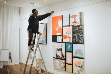 Square Gallery prep