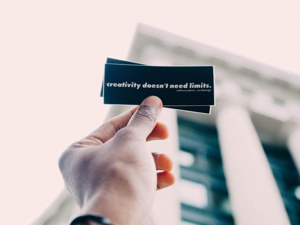 Creativity doesn't need limits - Zac Durant (unsplash) photo